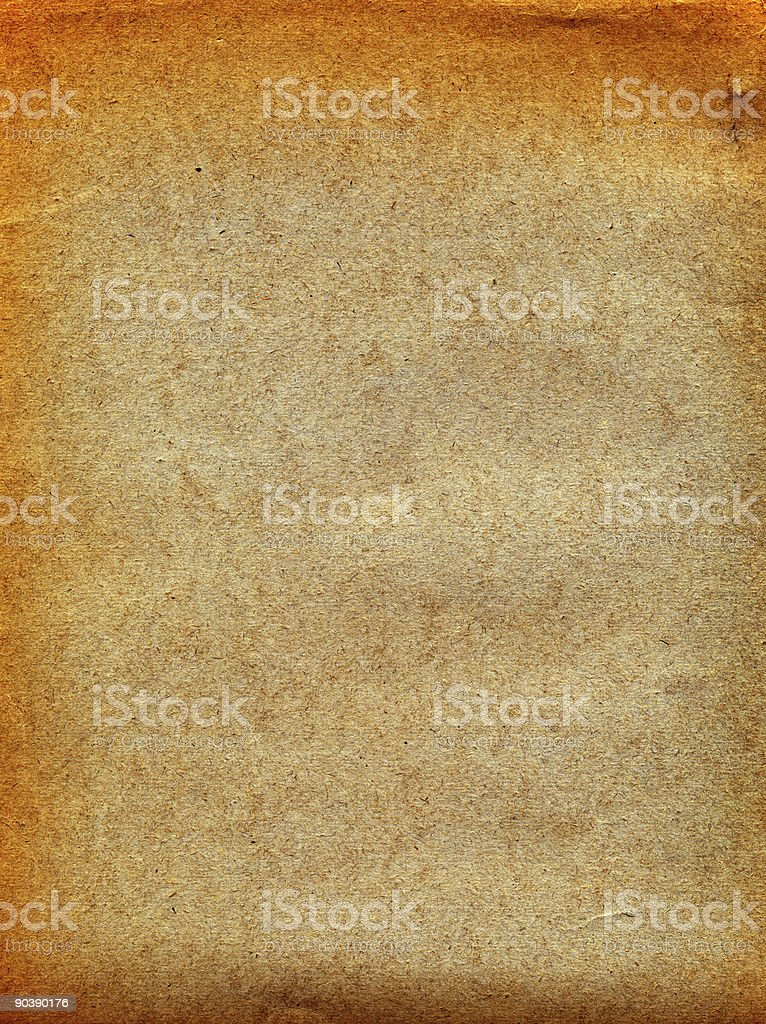 Old tattered textured paper. royalty-free stock photo