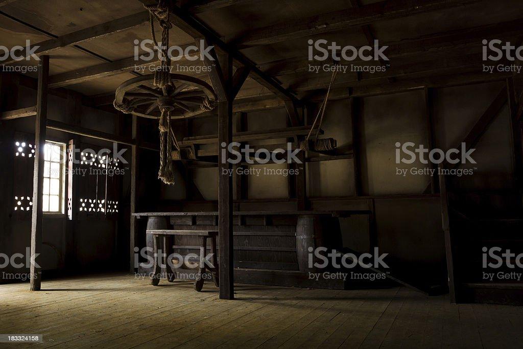 Old Tavern interior stock photo