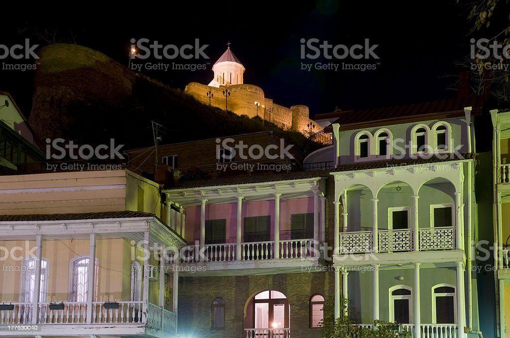 old Tbilisi at night royalty-free stock photo