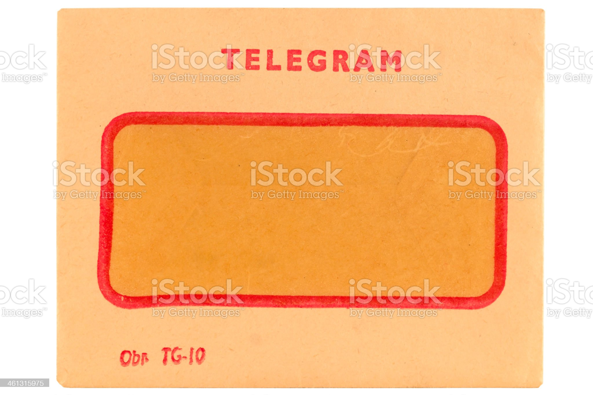 Old telegram envelope royalty-free stock photo