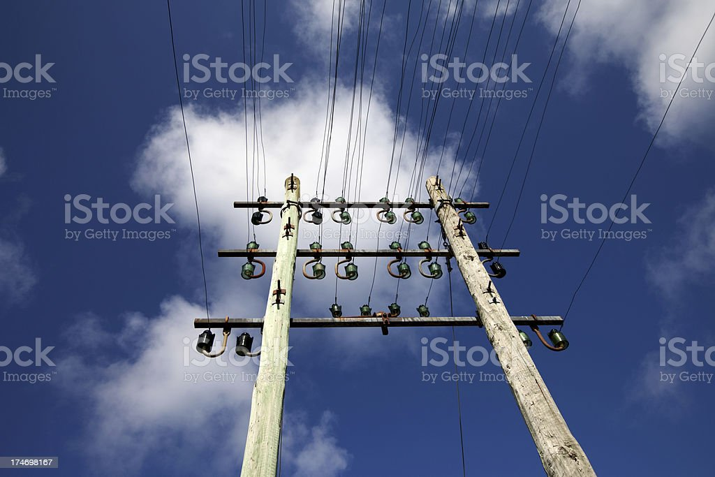 Old telegraph cables royalty-free stock photo
