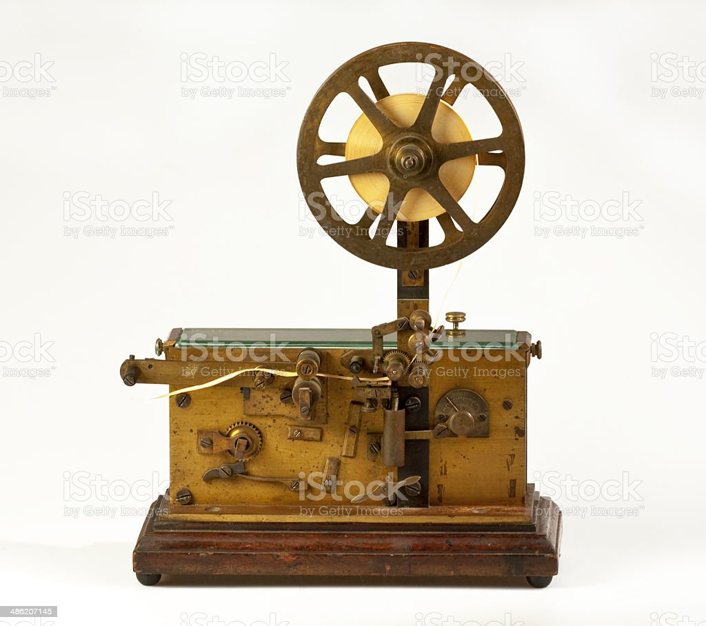 Old telegraph stock photo