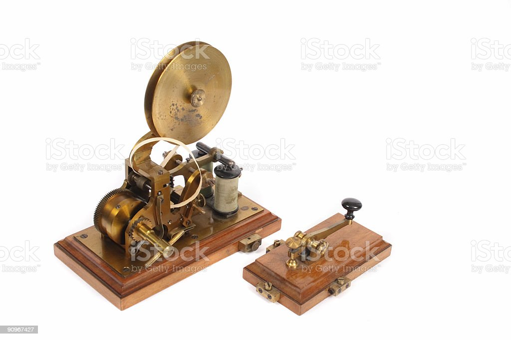 old telegraph royalty-free stock photo