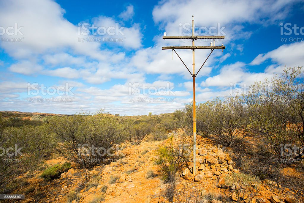 Old Telegraph Pole stock photo