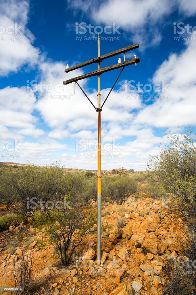 Old Telegraph Pole stock photo