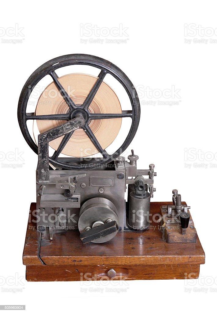 old telegraph set. stock photo