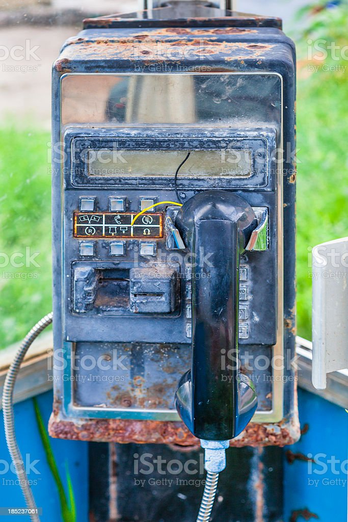 Old Telephone Booth stock photo