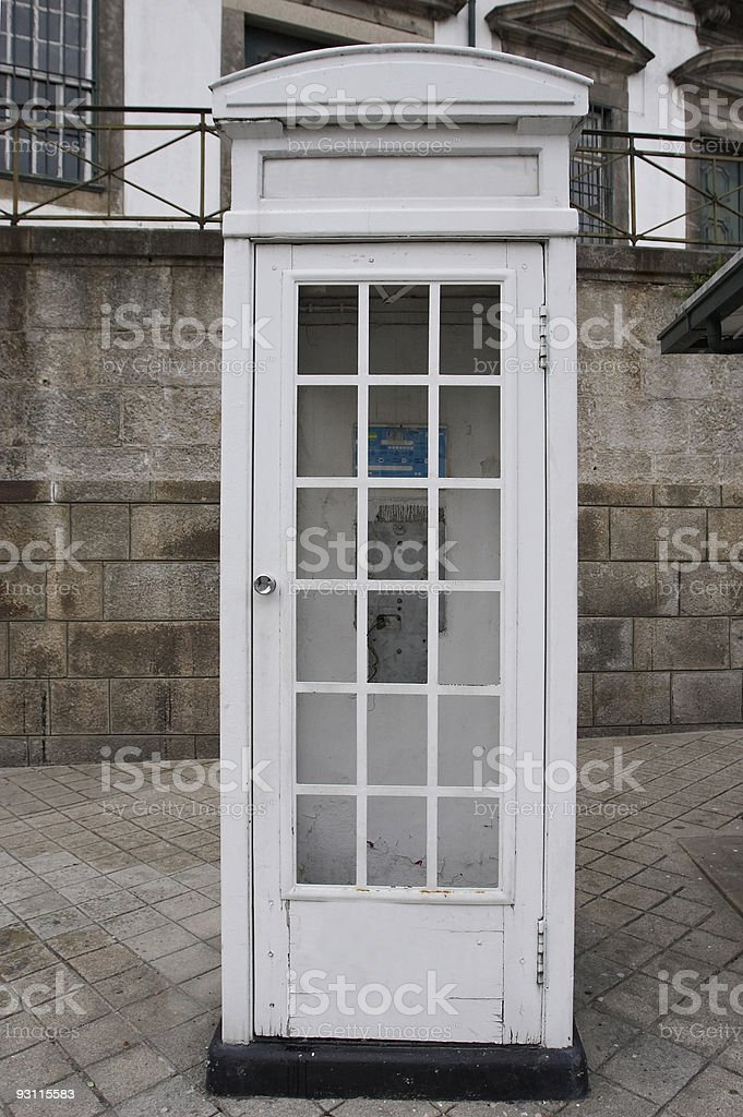 old telephone booth royalty-free stock photo