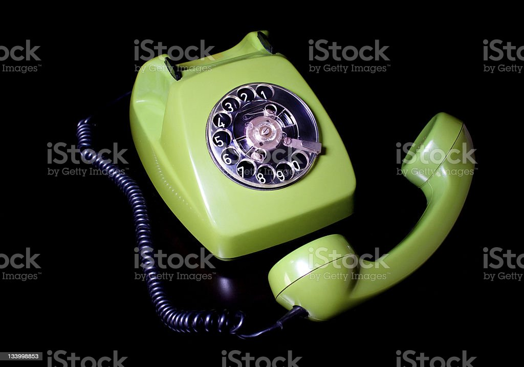 old telephone ,green royalty-free stock photo