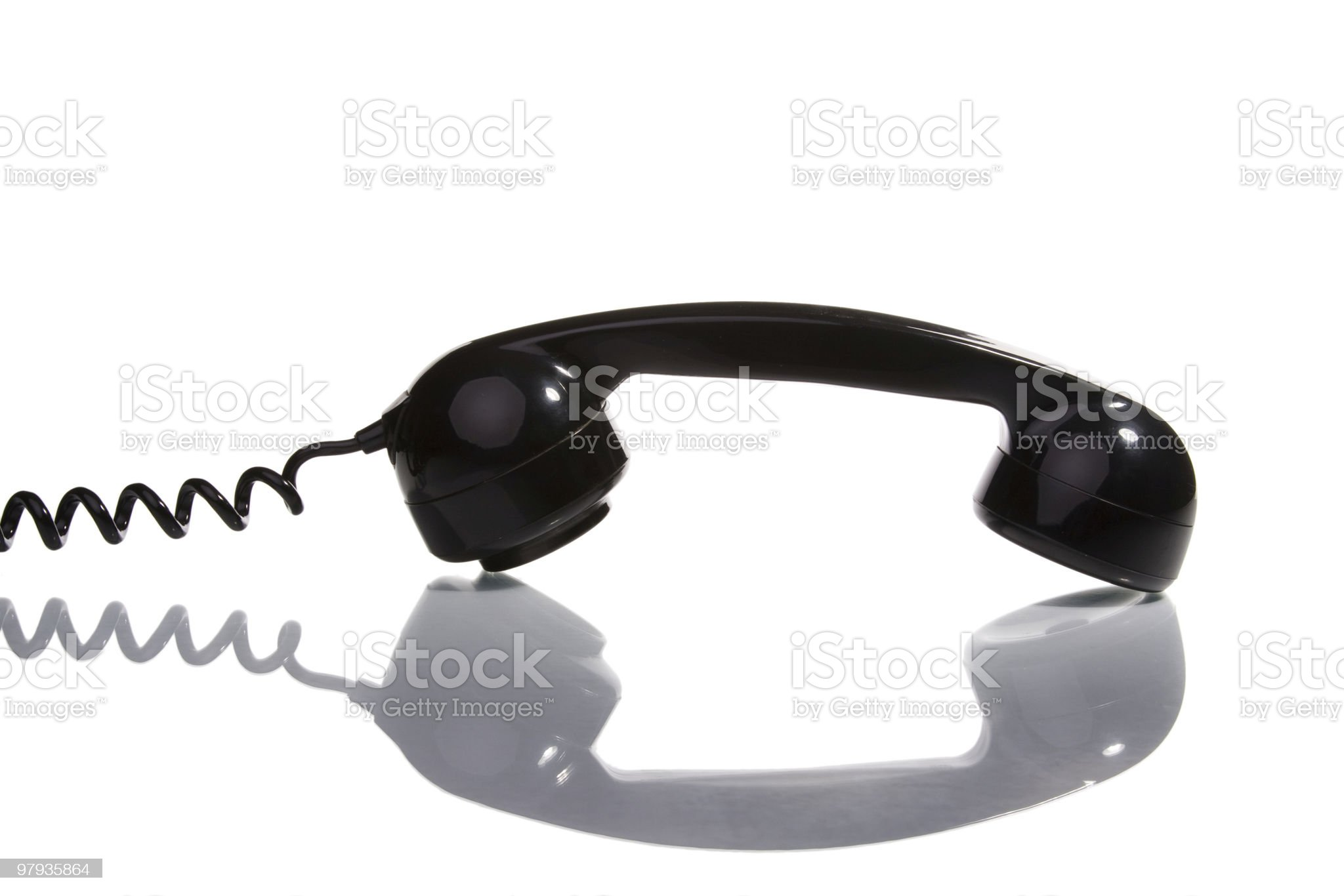 Old telephone handset royalty-free stock photo