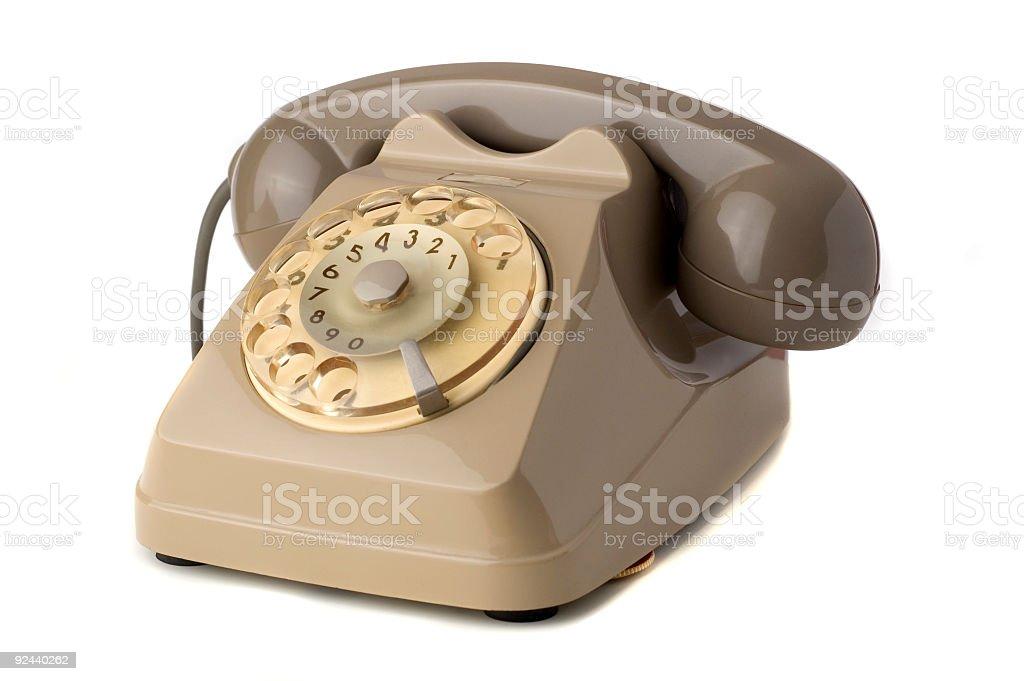 Old telephone royalty-free stock photo