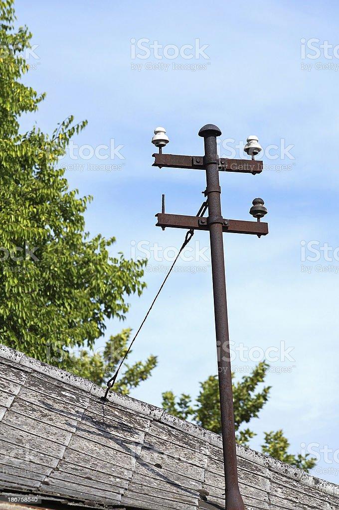 old telephone pole royalty-free stock photo
