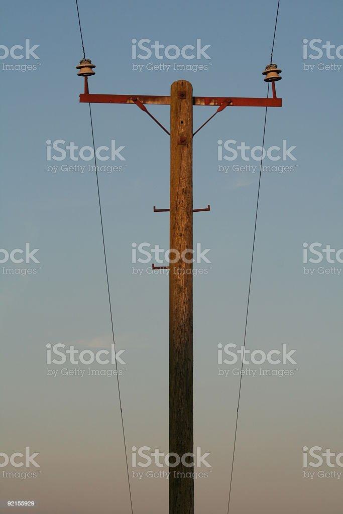 Old Telephone Pole stock photo