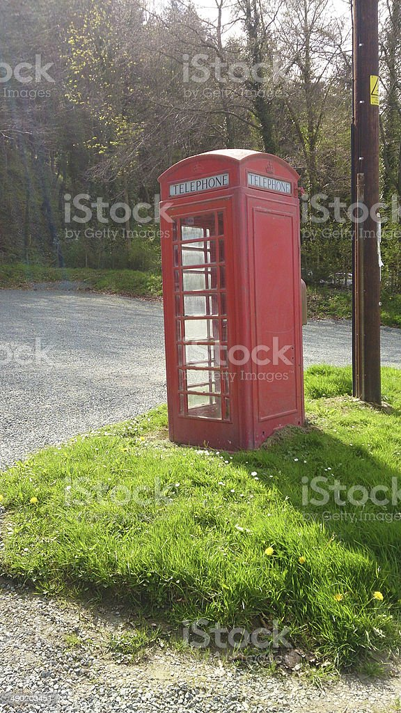 old telepone box stock photo