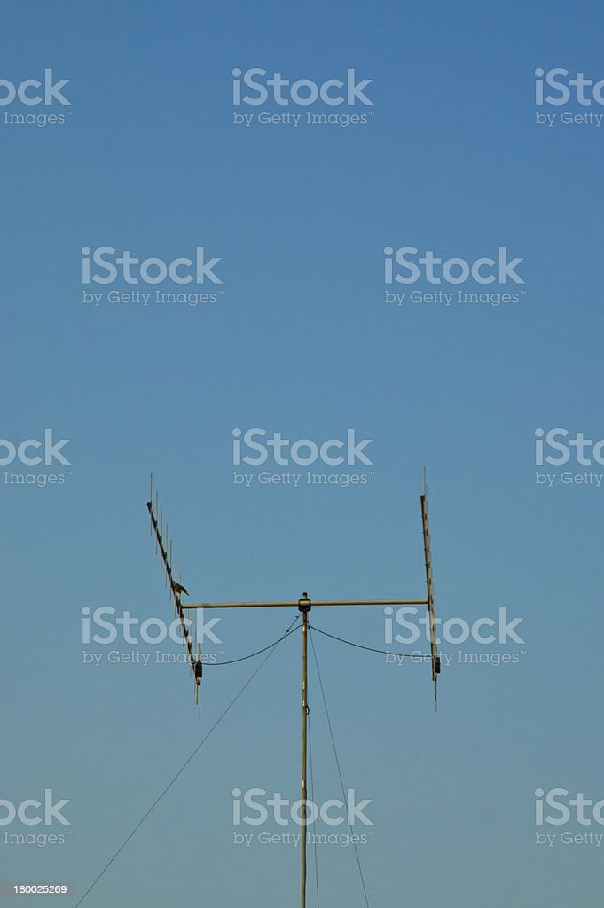 old television antenna royalty-free stock photo