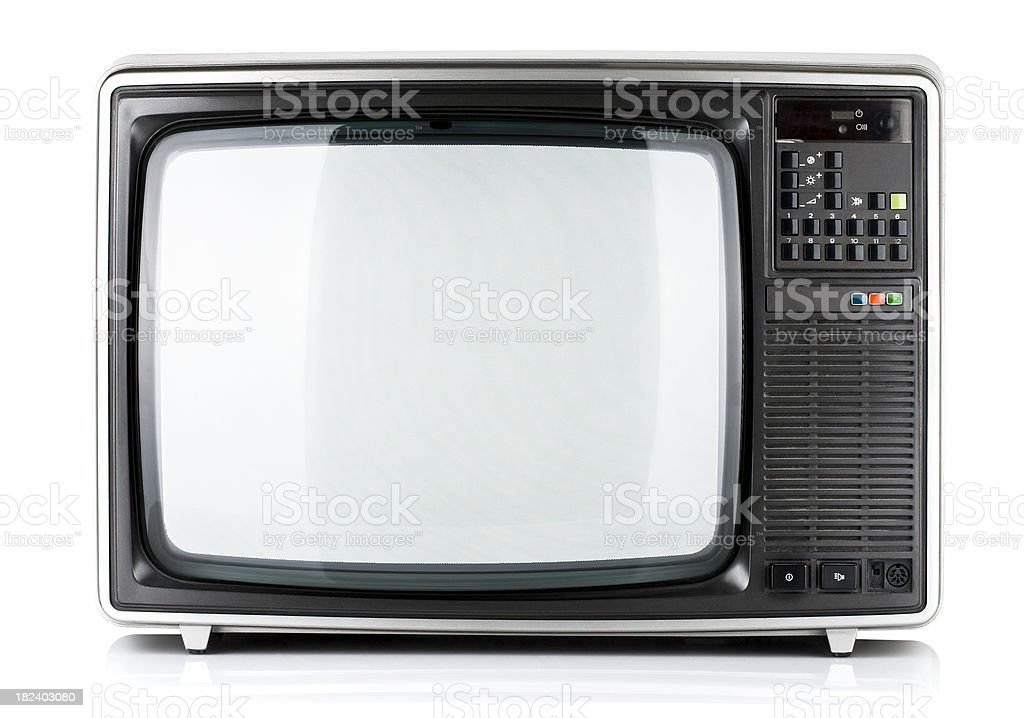 Old Television isolated royalty-free stock photo