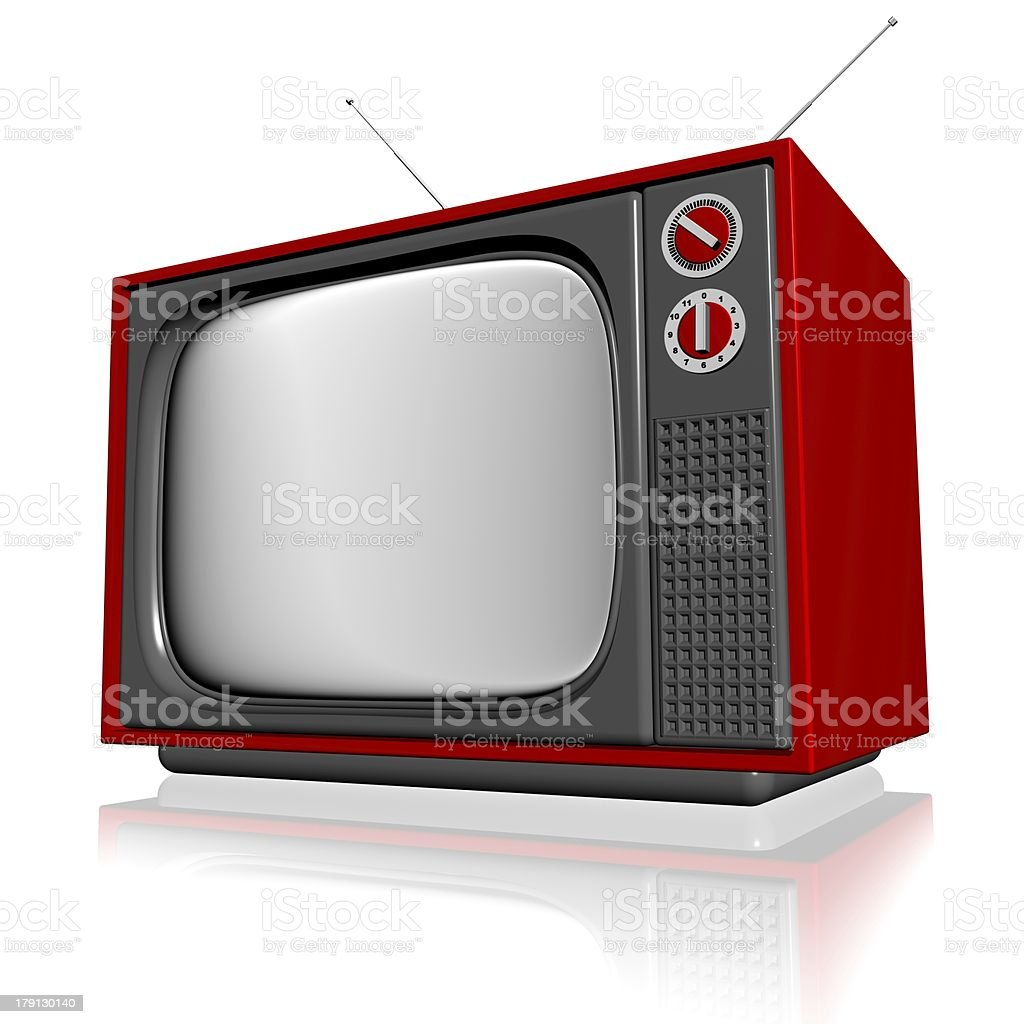 old television royalty-free stock photo
