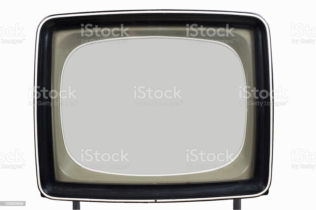 old television set stock photo