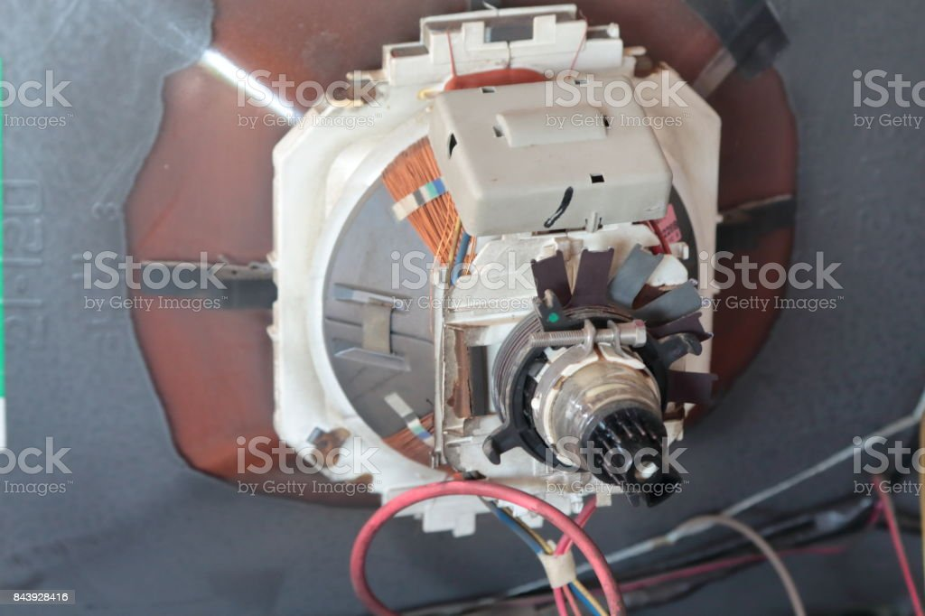 Old television tube. stock photo