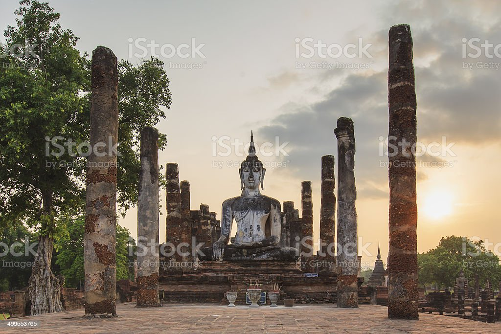 Old Temple at Sukhothai Historical Park stock photo