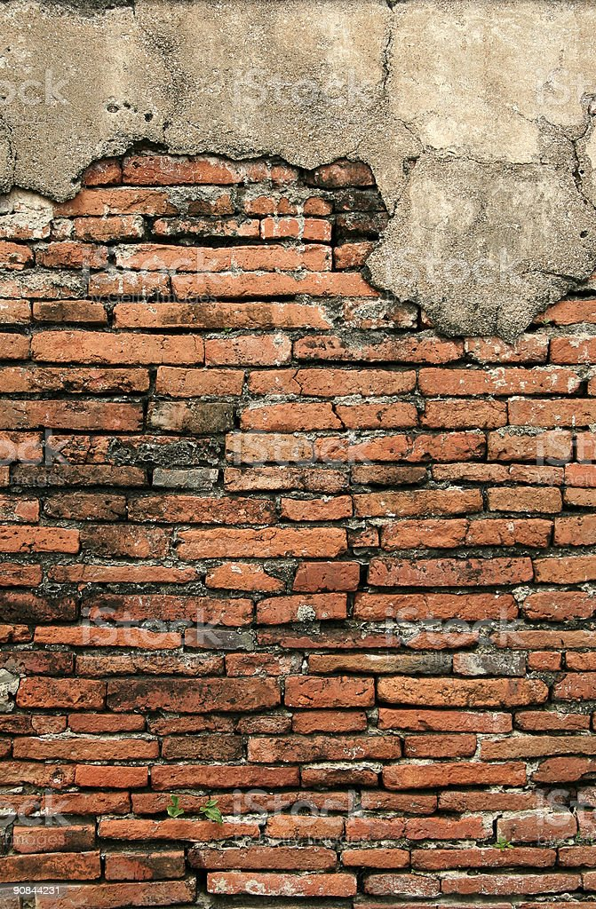 old temple brick wall background royalty-free stock photo