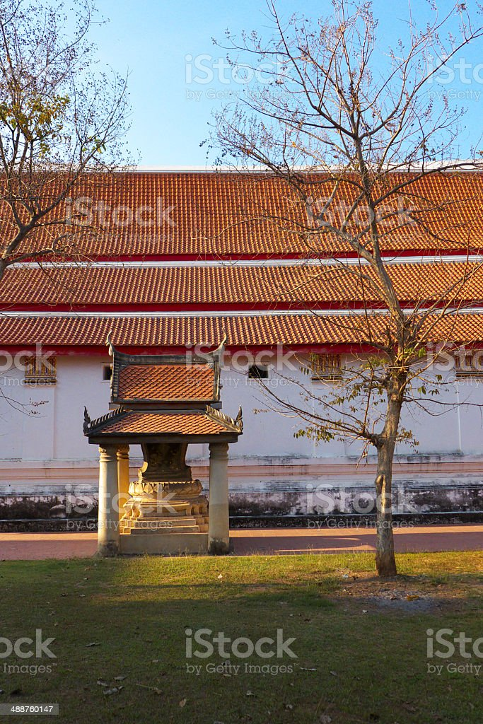 Old temple in ayuddhaya royalty-free stock photo