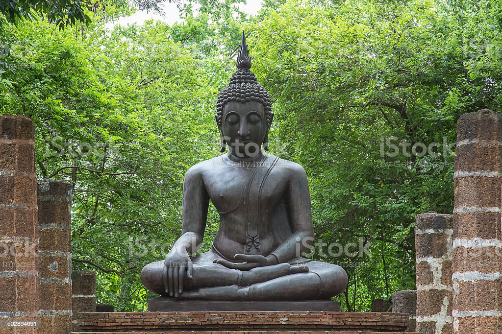 Old temple in ayutthaya Thailand royalty-free stock photo