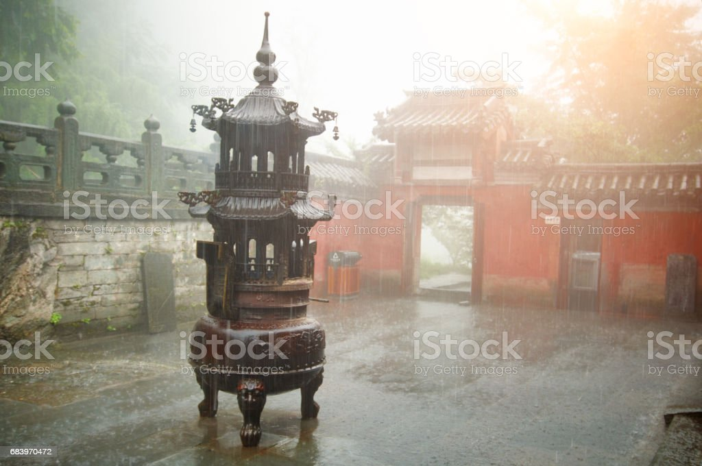 Old Temple stock photo