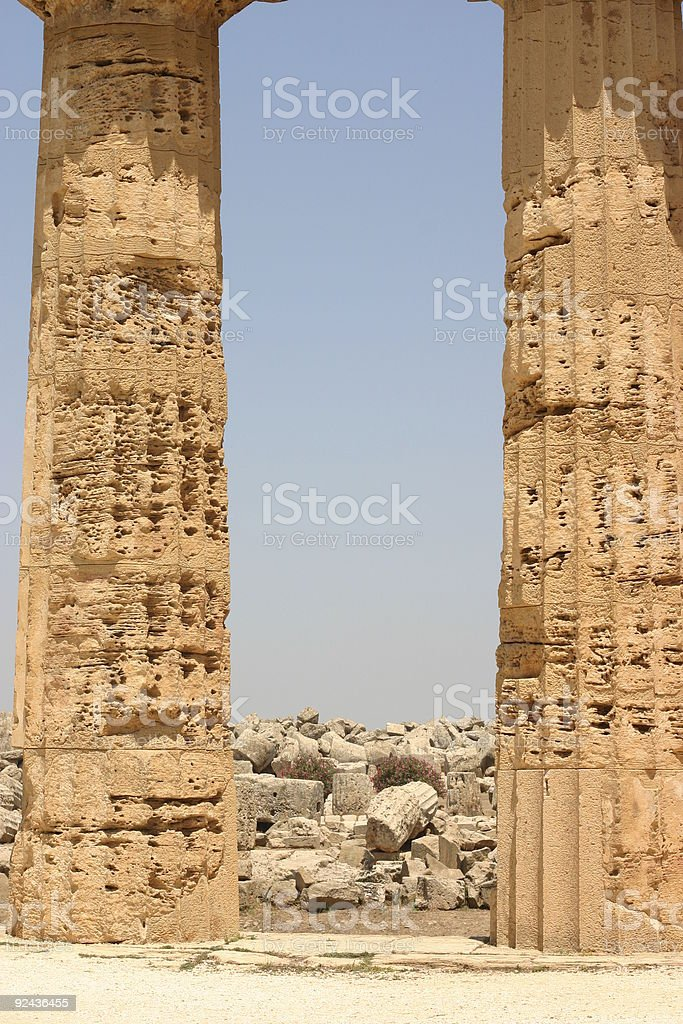 old temple ruins stock photo