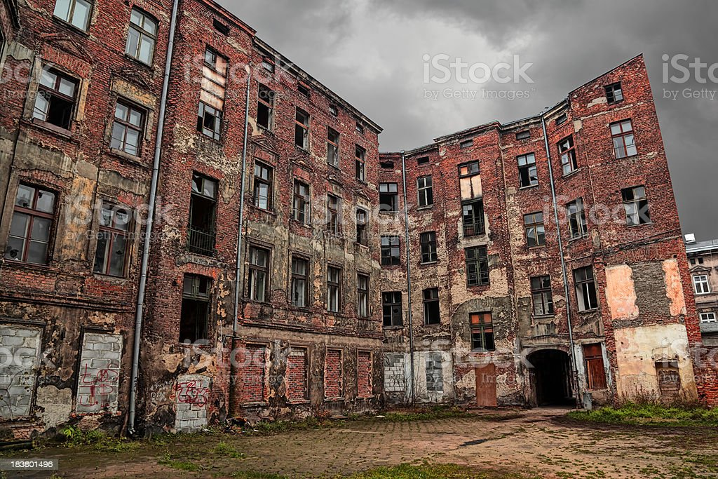 Old Tenement royalty-free stock photo