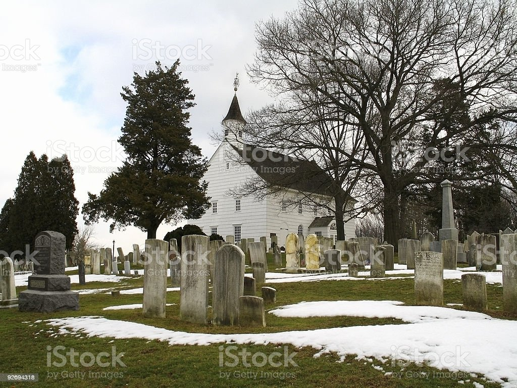Old Tennent Church and Chapel royalty-free stock photo