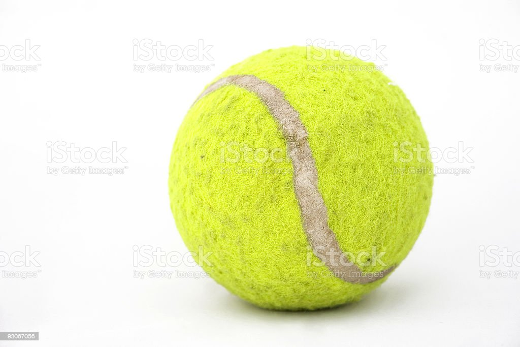 Old tennis ball royalty-free stock photo