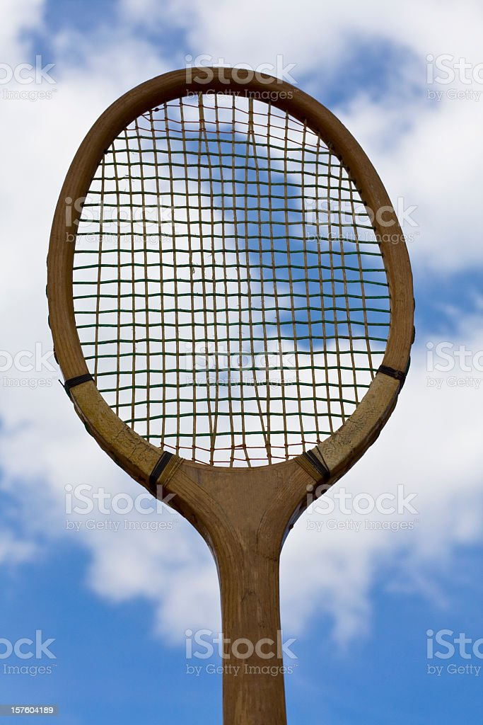 Old tennis racket royalty-free stock photo