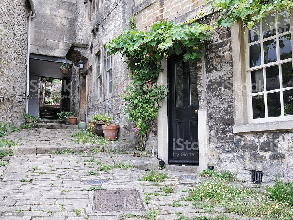 Old Terraced Cottages royalty-free stock photo