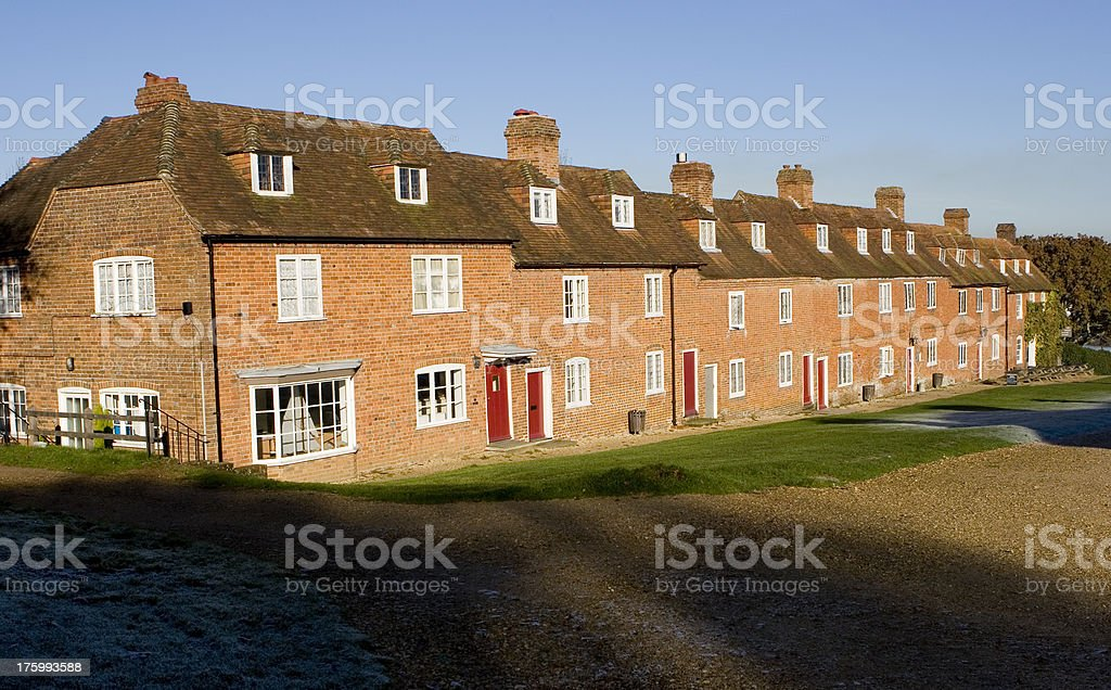Old Terraced Houses stock photo