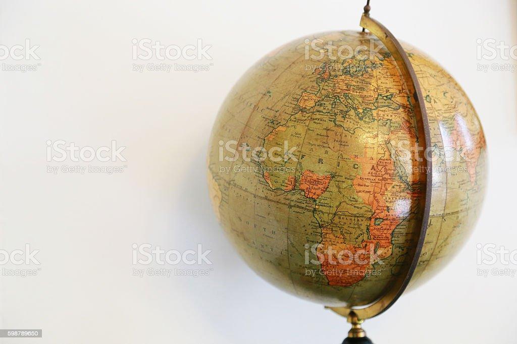 Old terrestrial globe foto de stock libre de derechos