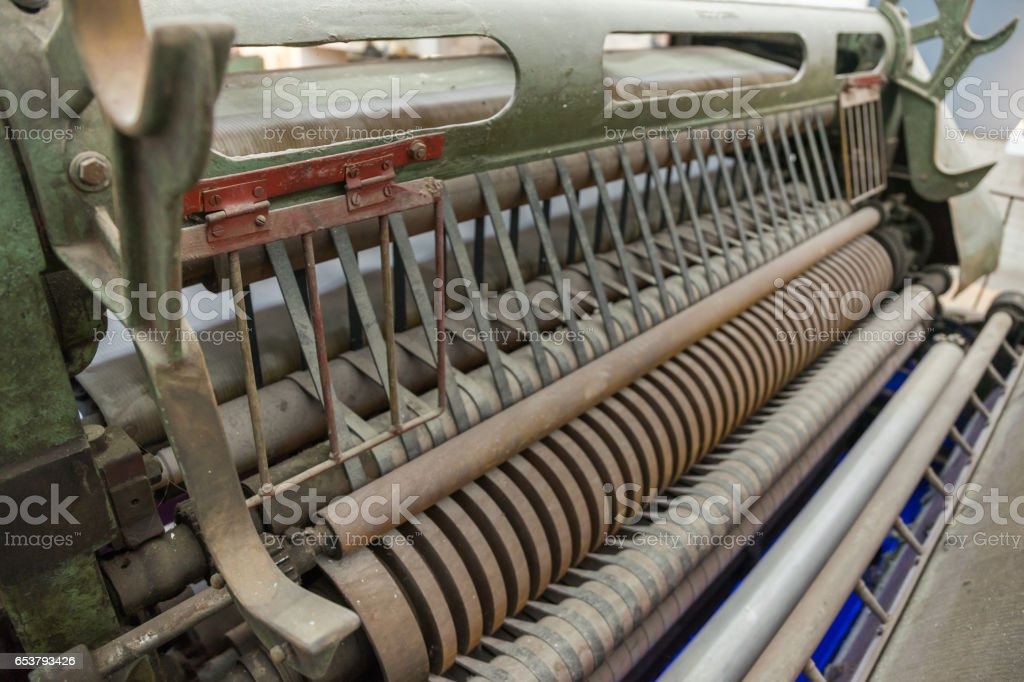 old Textile machine stock photo