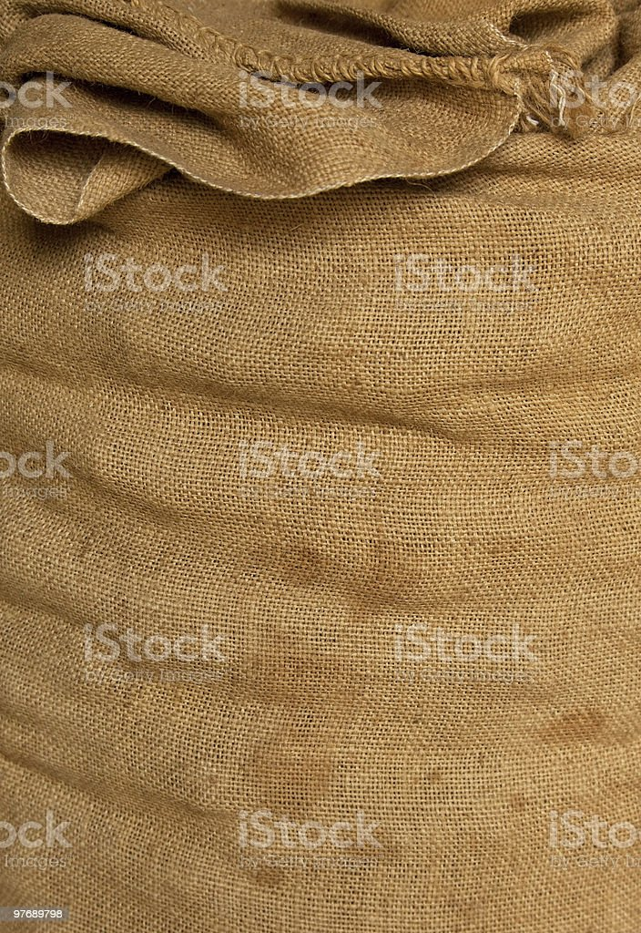 old textile sack background royalty-free stock photo