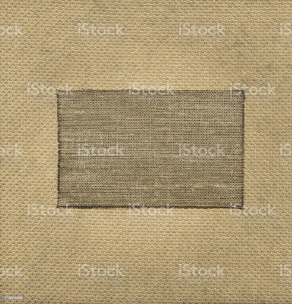 Old textile tag royalty-free stock photo