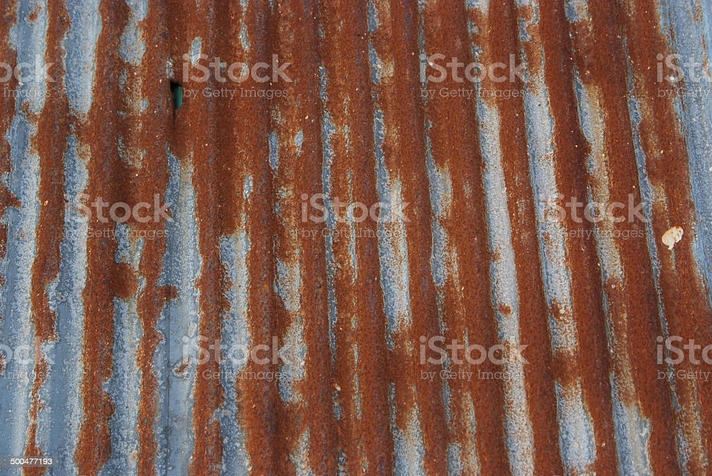 Old Texture and rusty zinc fence background. stock photo