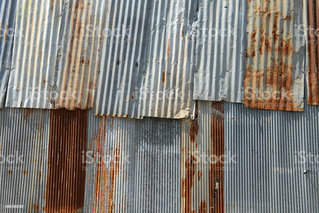 Old Texture and rusty zinc stock photo