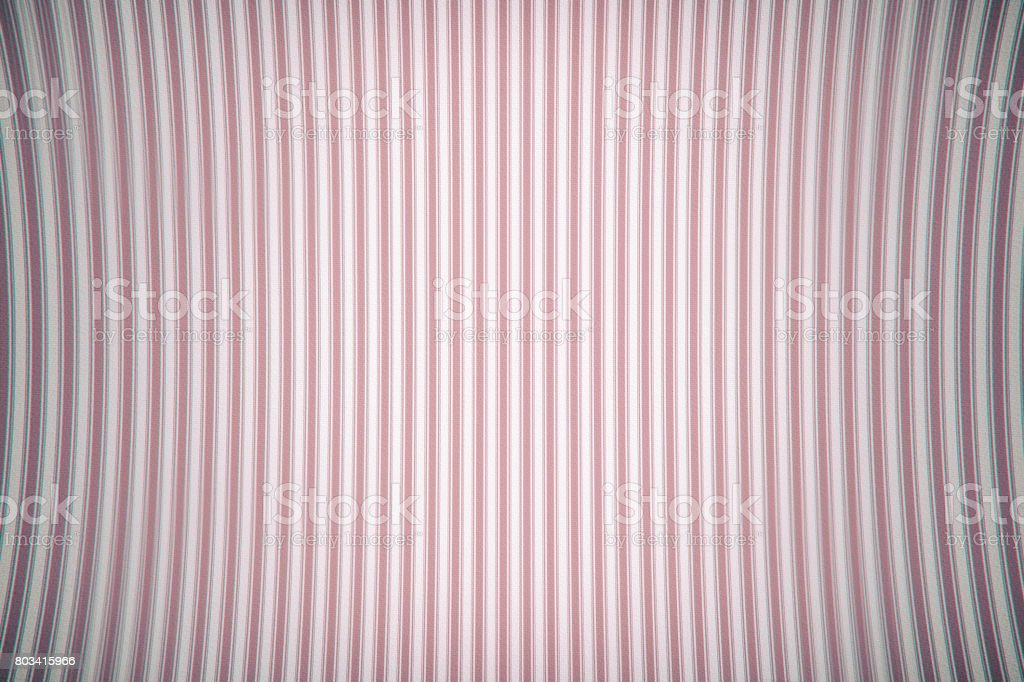 Old texture of curved vertical curved lines. Pink color. With chromatic aberrations stock photo