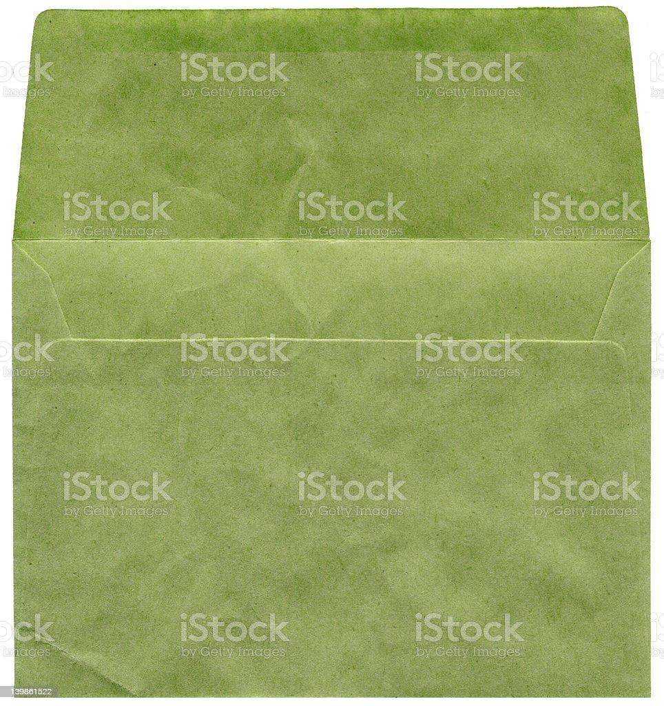 Vieux texture vert enveloppe photo libre de droits