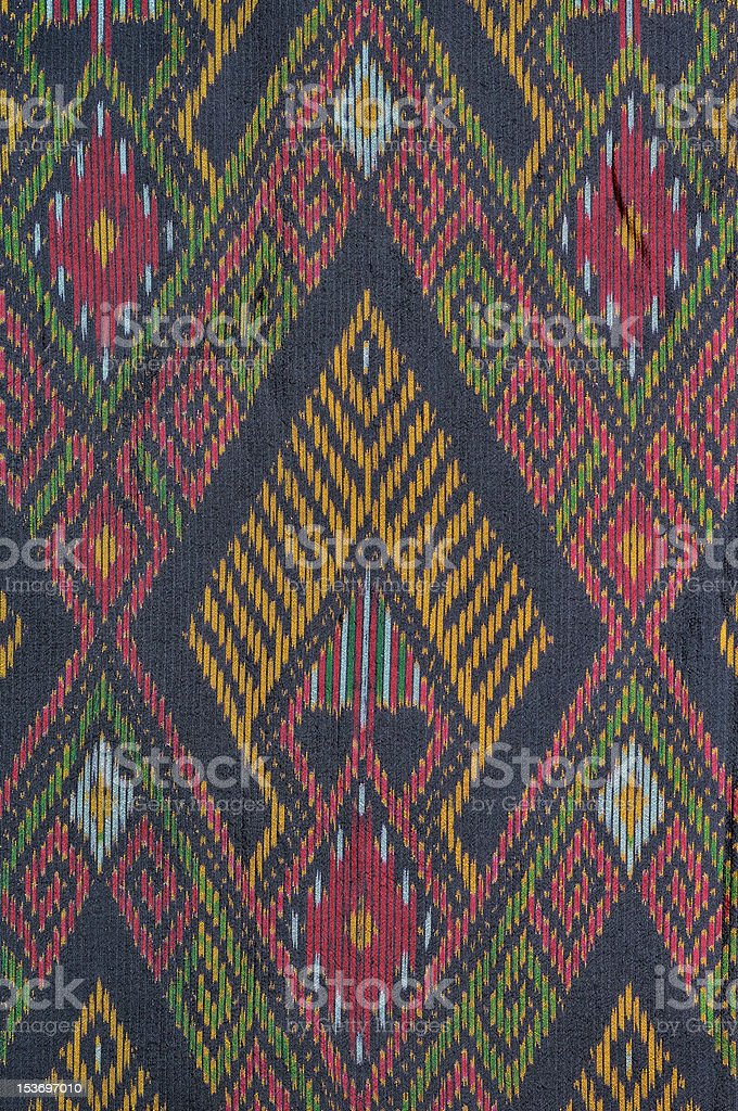 Old thai native cloth royalty-free stock photo