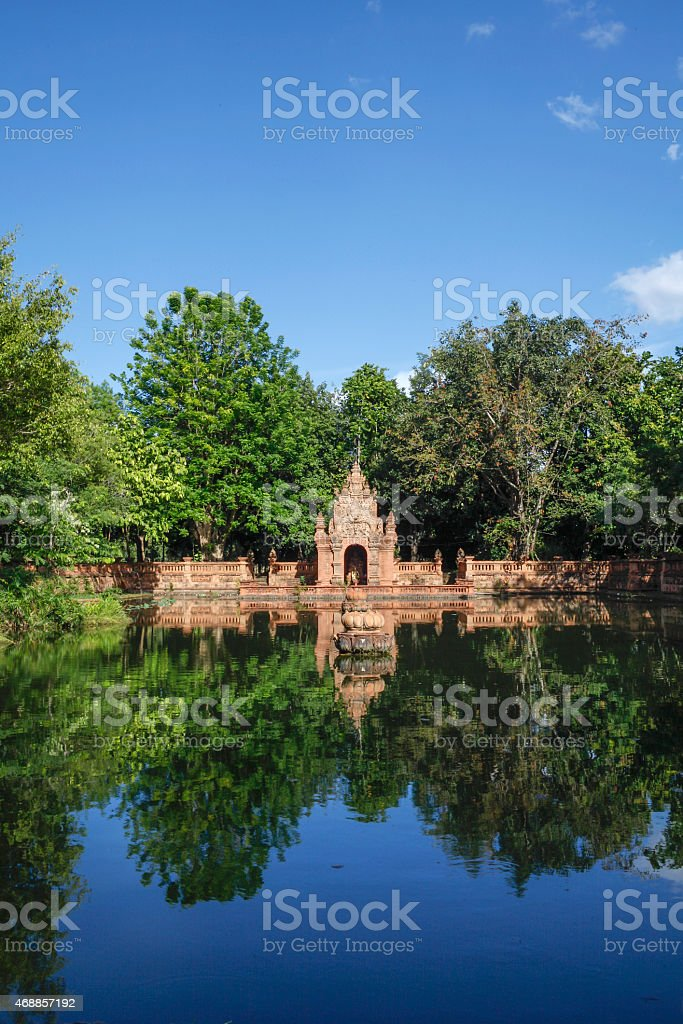 Old thail traditional building royalty-free stock photo