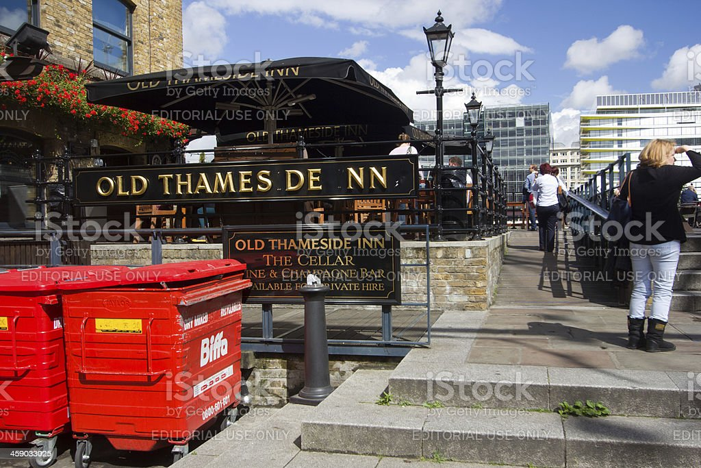 Old Thameside Inn in London, England royalty-free stock photo