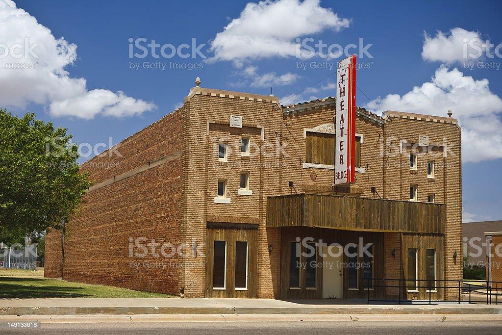 Vecchio edificio del Teatro in Stati Uniti sud-occidentali foto stock royalty-free