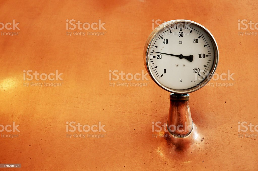 Old thermometer stock photo