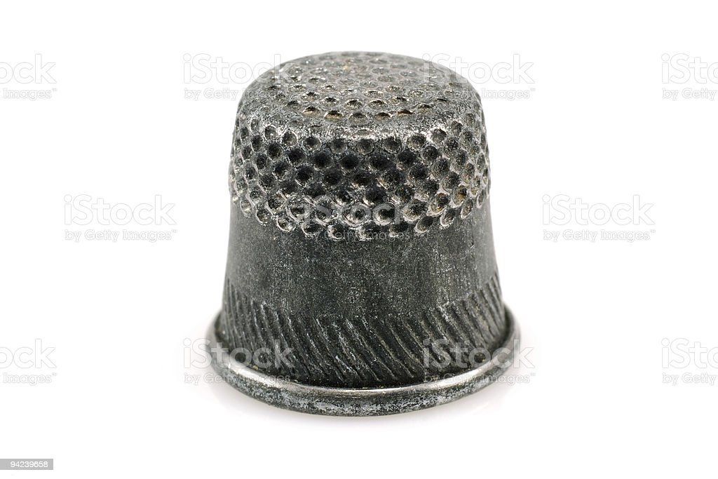 old thimble royalty-free stock photo