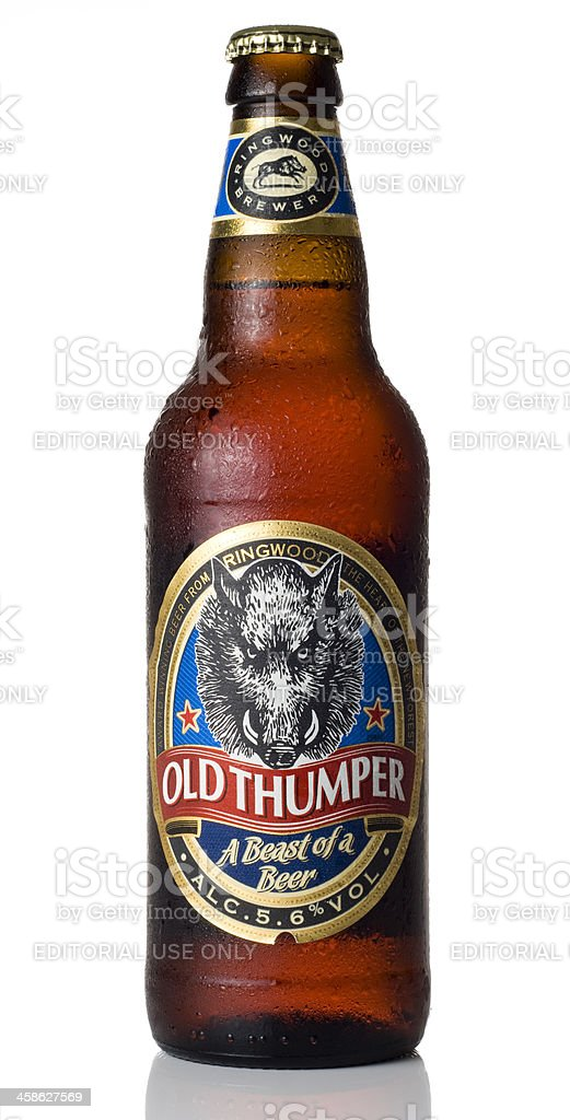 Old Thumper Ale stock photo